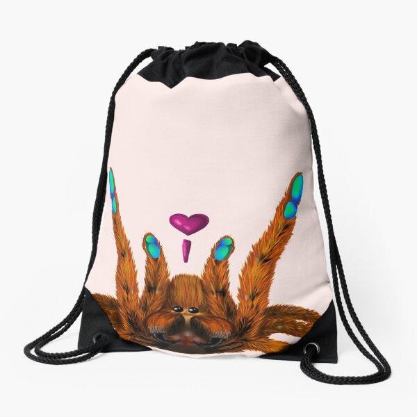 Love spider Drawstring Bag