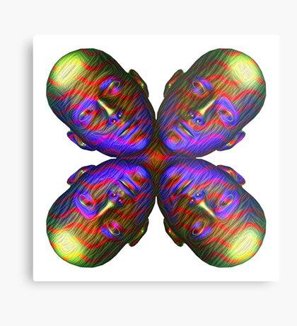 #DeepDream Masks - Heads - Butterfly 5x5K v1455803831 Metal Print