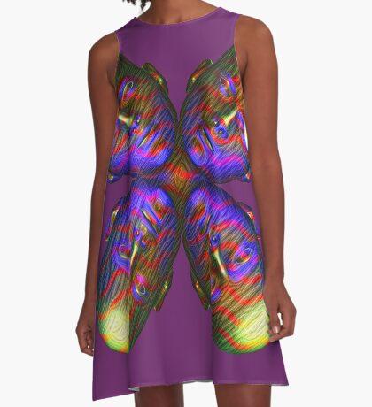 #DeepDream Masks - Heads - Butterfly 5x5K v1455803831 A-Line Dress