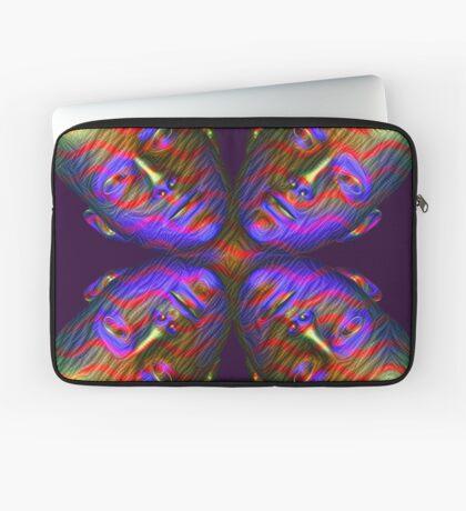 #DeepDream Masks - Heads - Butterfly 5x5K v1455803831 Laptop Sleeve
