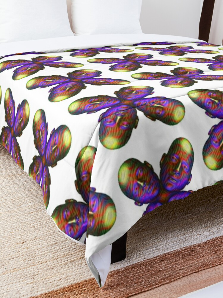 Alternate view of #DeepDream Masks - Heads - Butterfly 5x5K v1455803831 Comforter