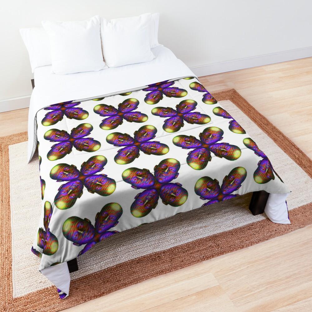 #DeepDream Masks - Heads - Butterfly 5x5K v1455803831 Comforter