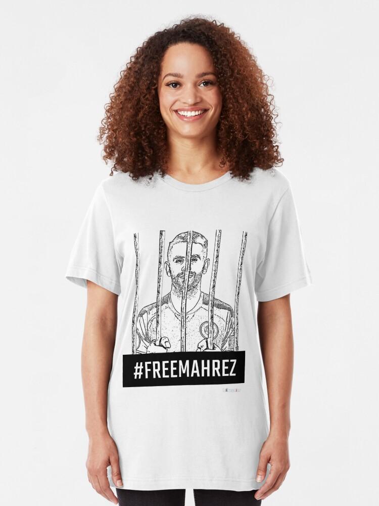 T-shirt ajusté ''#FreeMahrez': autre vue