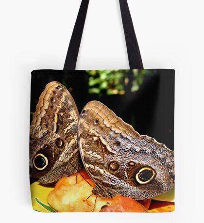 Owl Butterflies Tote Bag