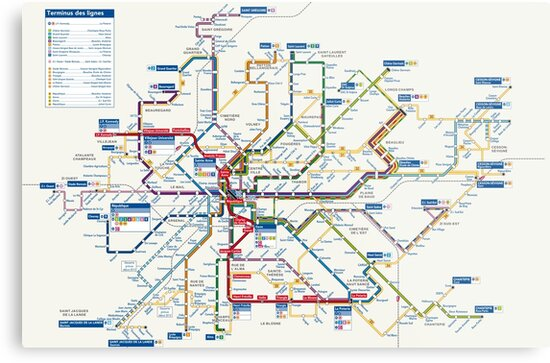 Rennes Metro Map France Metal Prints By Superfunky Redbubble