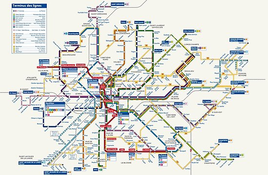 Rennes Metro Map France Photographic Prints By Superfunky Redbubble