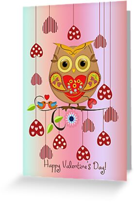 Owl loves you ii greeting cards by walstraasart redbubble owl loves you ii m4hsunfo
