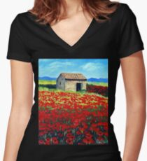 Shed Women's Fitted V-Neck T-Shirt