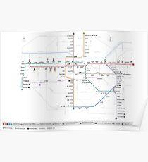 Santiago Metro Map - Chile Poster