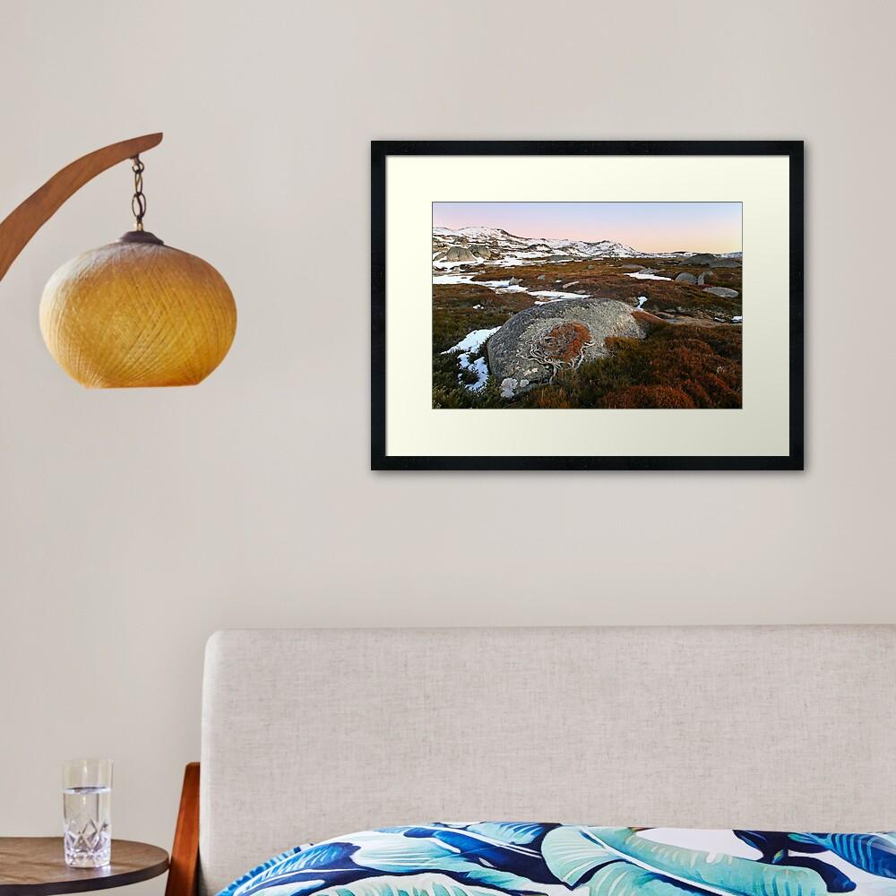 Wind swept valley, Kosciusko Nat. Park, Australia Framed Art Print