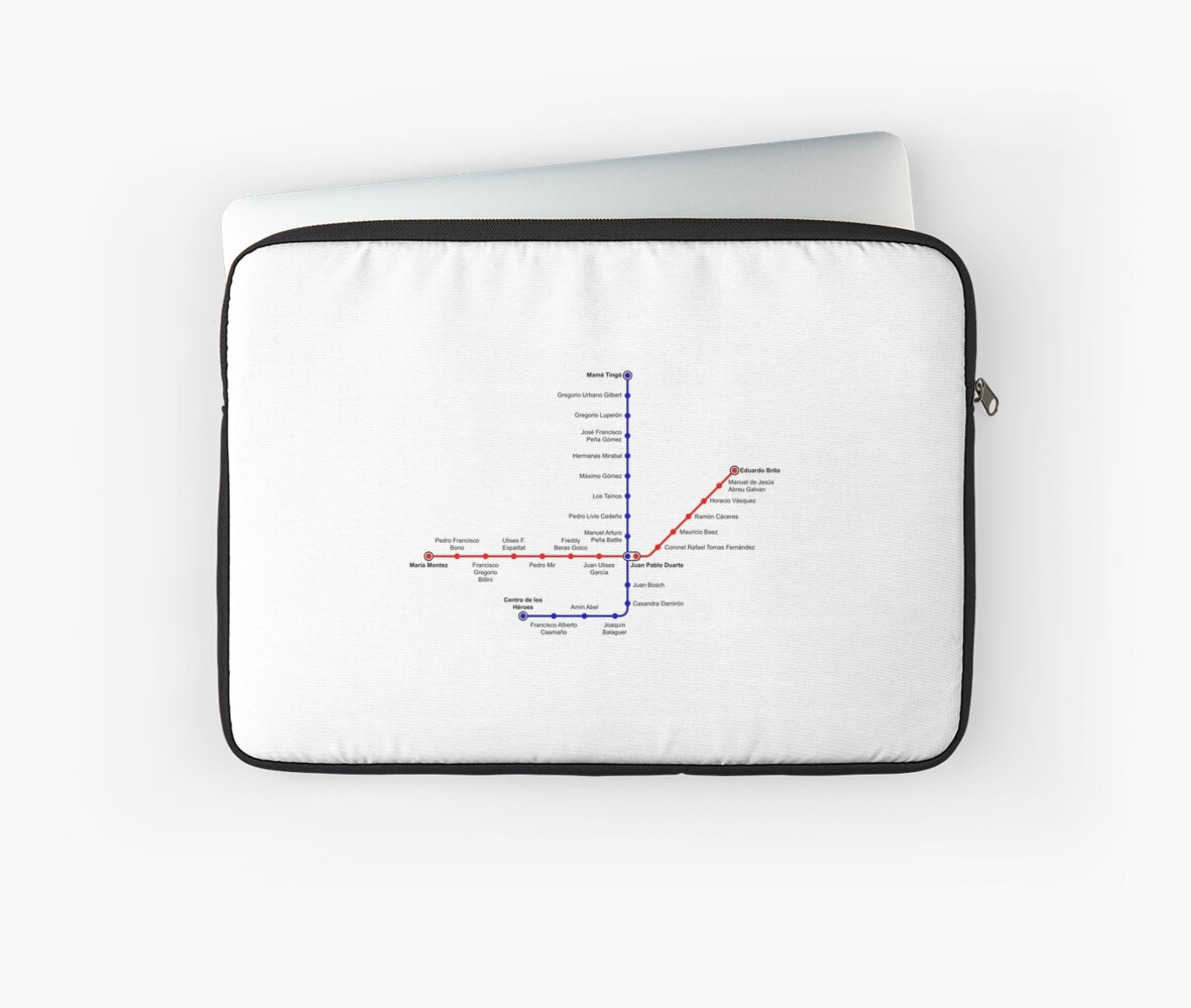 Santo Domingo Metro Map.Santo Domingo Metro Map Dominican Republic Laptop Sleeves By