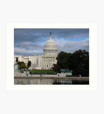 US Capital Building Art Print