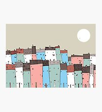 Cloudy Town Photographic Print