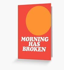 Morning Has Broken classic retro school hymn book cover Greeting Card