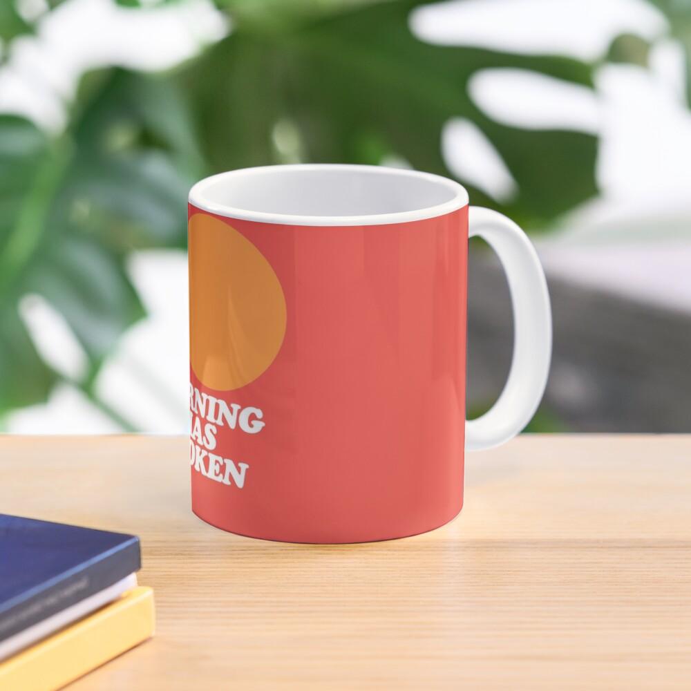 Morning Has Broken classic retro school hymn book cover Mug