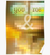 You & Me Mosaic Stained Glass Geometric Poster
