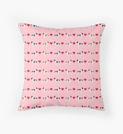 Rat Terrier love hearts dog breed pet art dog pattern gifts unique pure breed Floor Pillow