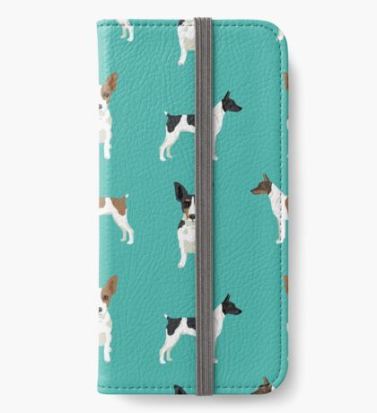 Rat Terrier dog breed pet art dog pattern gifts unique pure breed iPhone Wallet