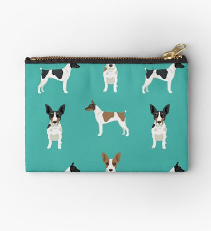 Rat Terrier dog breed pet art dog pattern gifts unique pure breed Zipper Pouch