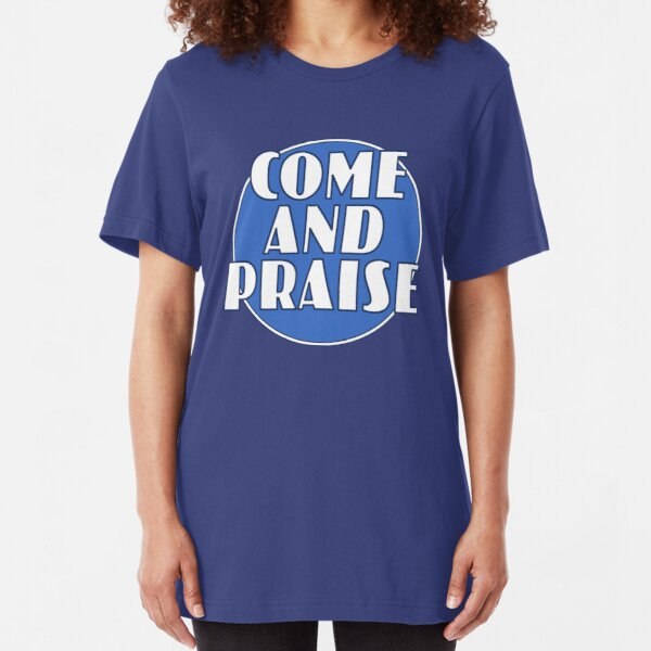 Come And Praise, 1980s school hymn book cover Slim Fit T-Shirt