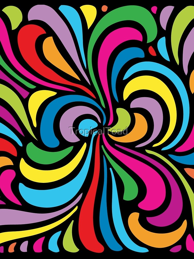 Psychedelic Hippie Abstract Swirl Pattern by TropicalToad