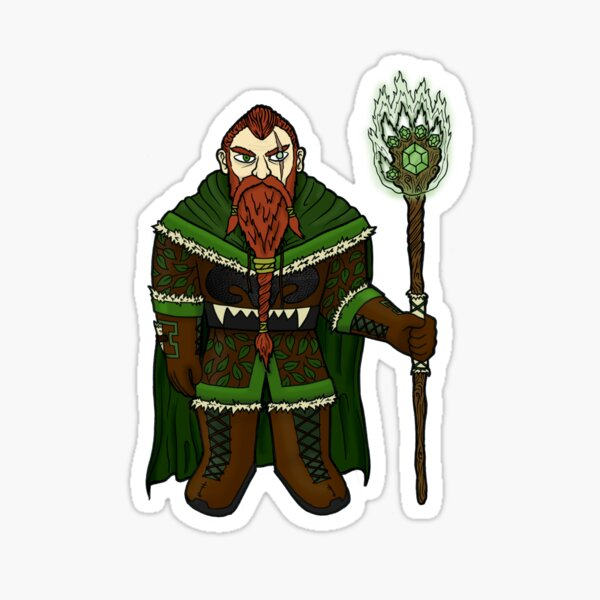 Ironclaw the Druid Sticker