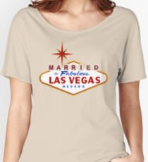 Married in Las Vegas sign Relaxed Fit T-Shirt