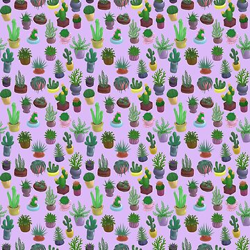 Succulents and Cacti purple by Bantambb