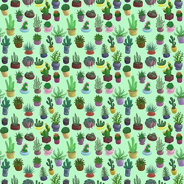 Succulents and Cacti green by Bantambb