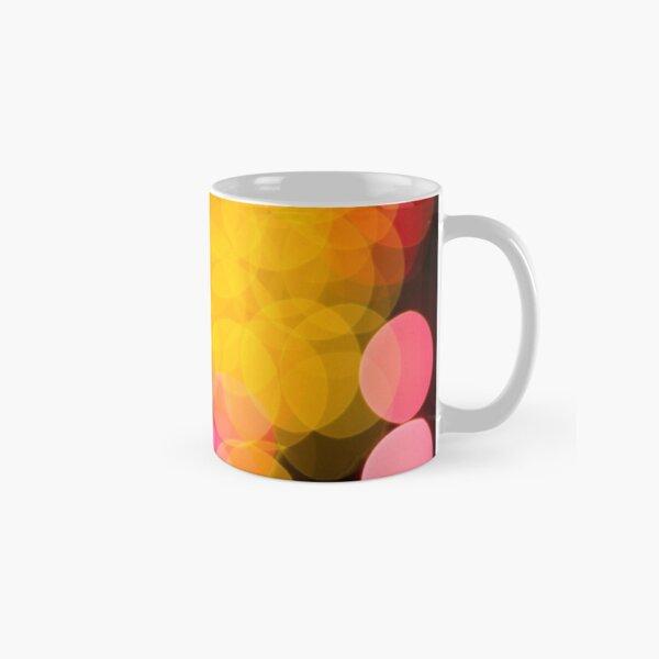 Bokeh abstract pink yellow circles Classic Mug