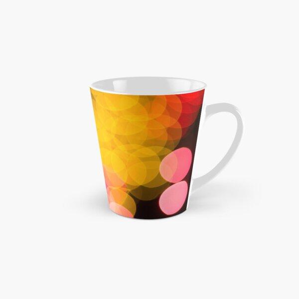 Bokeh abstract pink yellow circles Tall Mug