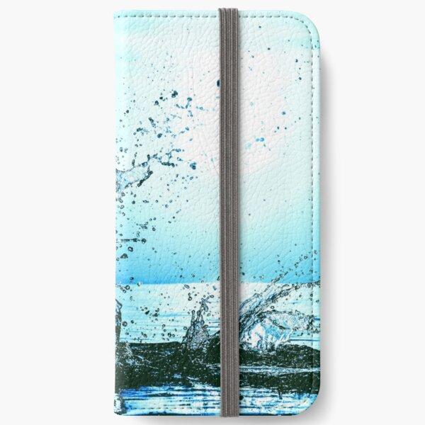 Blue water splash iPhone Wallet