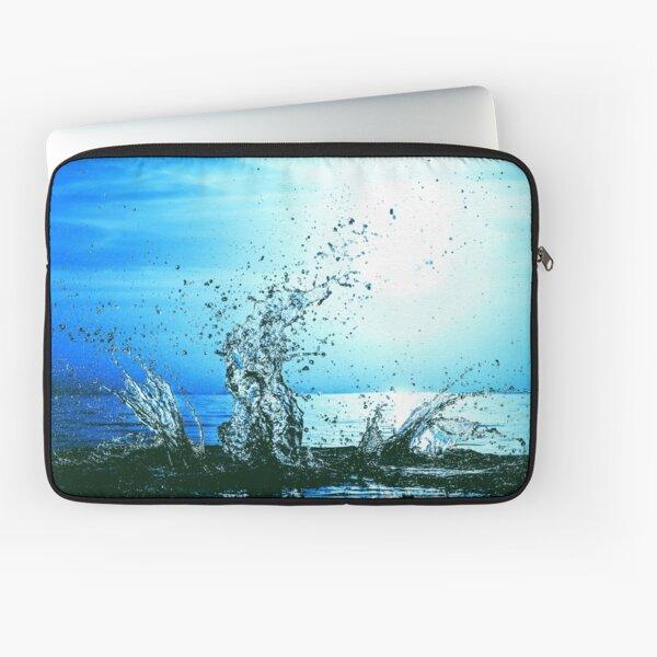 Blue water splash Laptop Sleeve