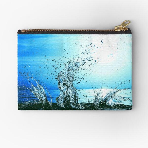 Blue water splash Zipper Pouch