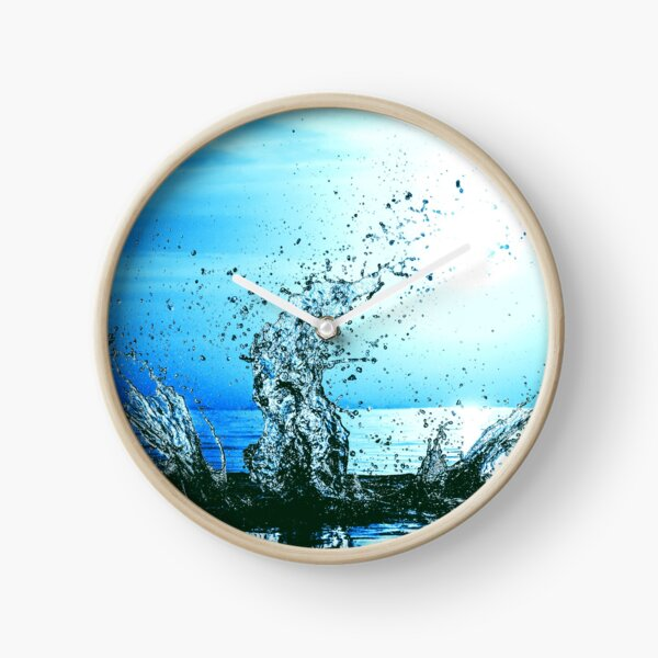 Blue water splash Clock