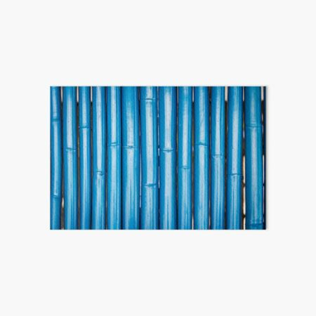 Blue bamboo canes background Art Board Print