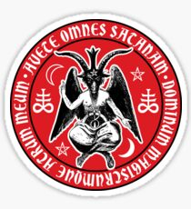 Baphomet & Satanic Crosses with Hail Satan Inscription Sticker