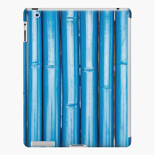 Blue bamboo canes background iPad Snap Case