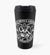 Baphomet & Satanic Crosses with Hail Satan Inscription Travel Mug