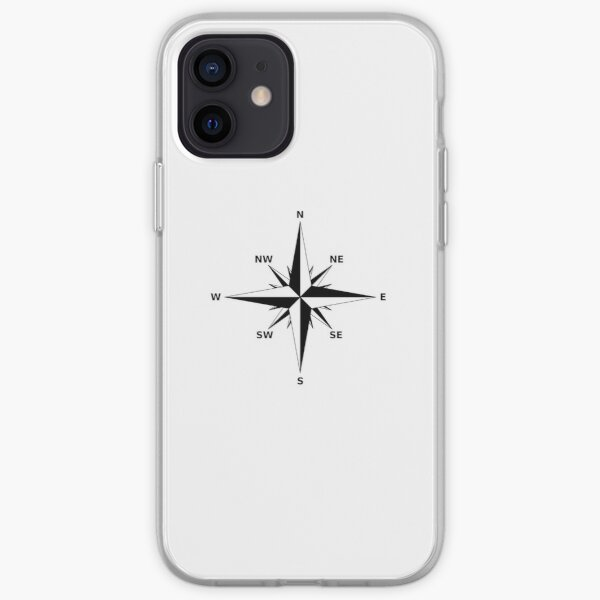 Compass. Rose, Windrose or Rose of the Winds. iPhone Soft Case
