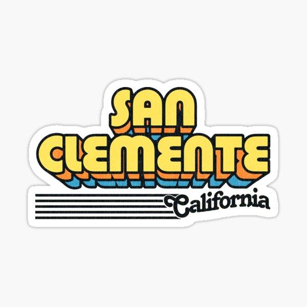 San Clemente, California   Retro Stripes Sticker