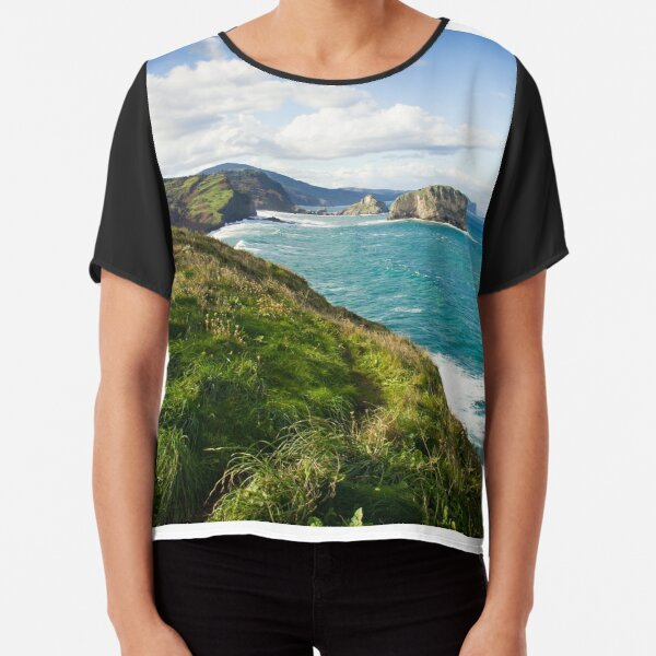 Basque Country coast landscape Chiffon Top