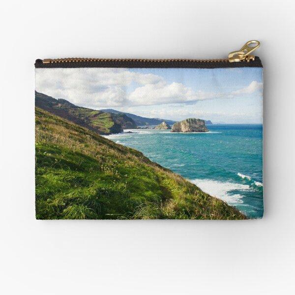 Basque Country coast landscape Zipper Pouch