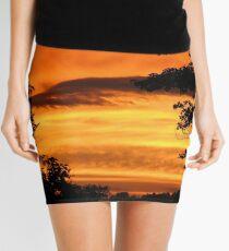 Fiery Sunset Mini Skirt
