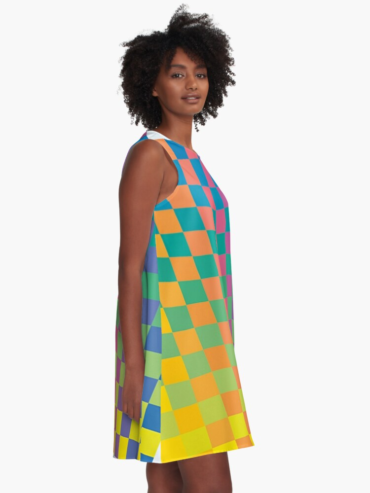 Alternate view of How Physics and Maths helped create modernist painting A-Line Dress