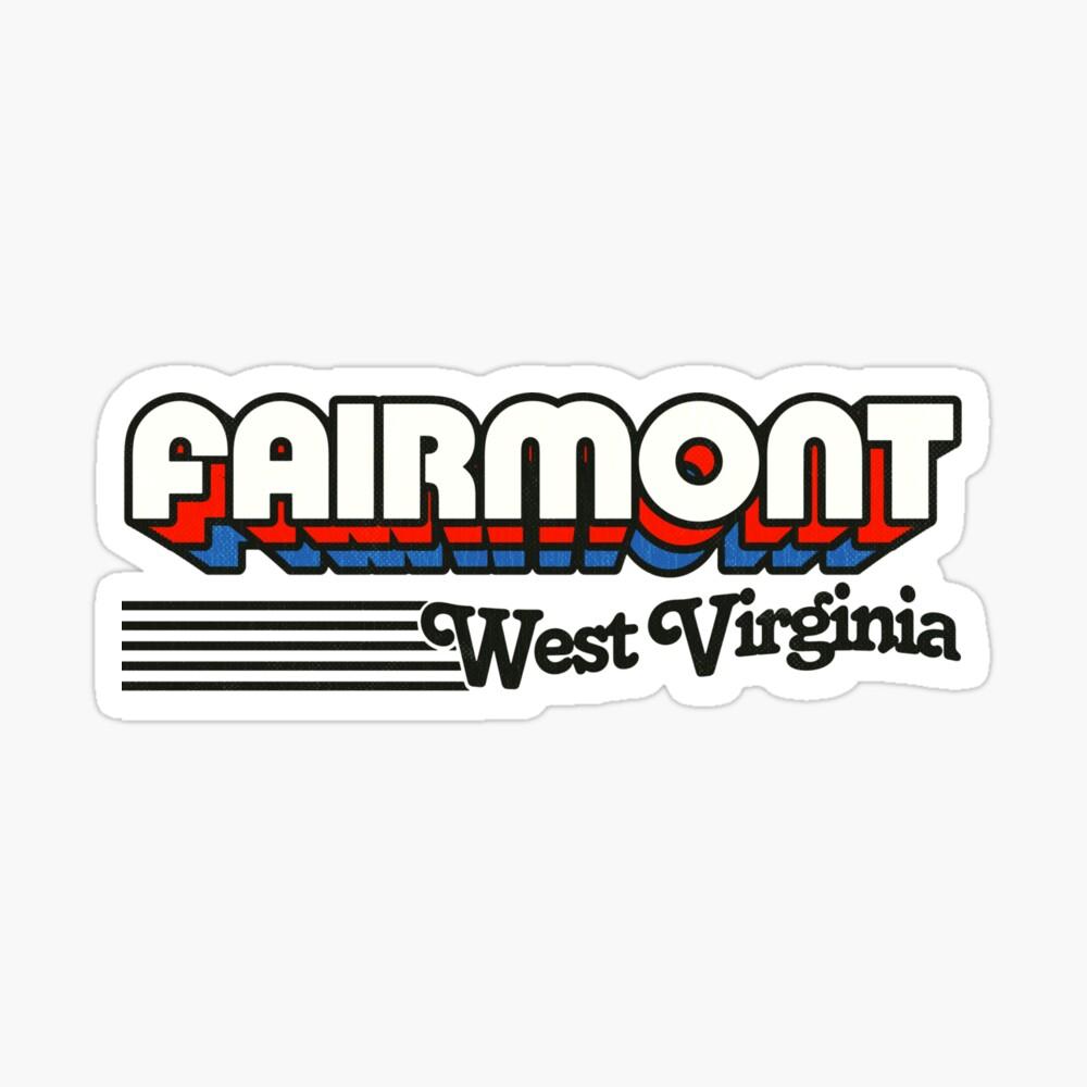 Fairmont, West Virginia   Retro Stripes Sticker