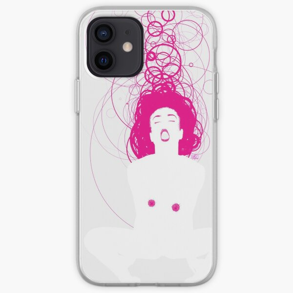 magenta girl iPhone Soft Case