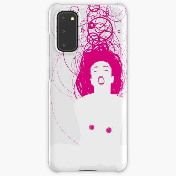 magenta girl Samsung Galaxy Snap Case