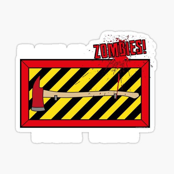 In Case of Zombies... Break Glass Sticker