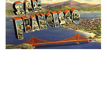 Greetings from San Francisco - Vintage Postcard by Drewaw